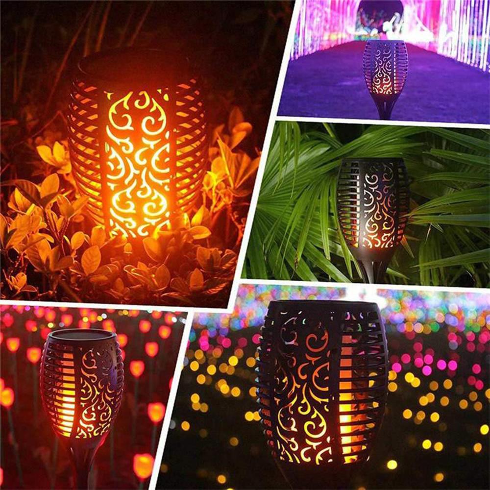 12 LED Light Solar Powered Flame Torch Decorative Light_5