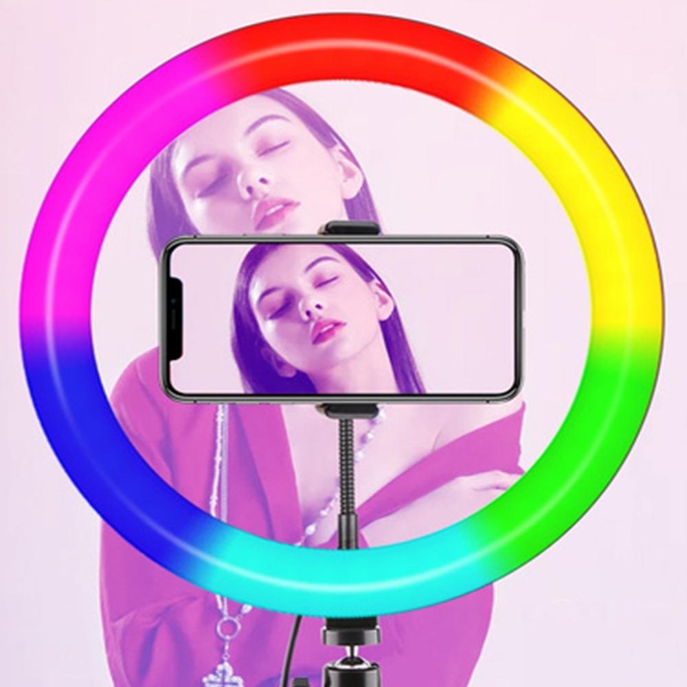 26cm RGB LED Selfie Ring Fill Light with Tripod_6
