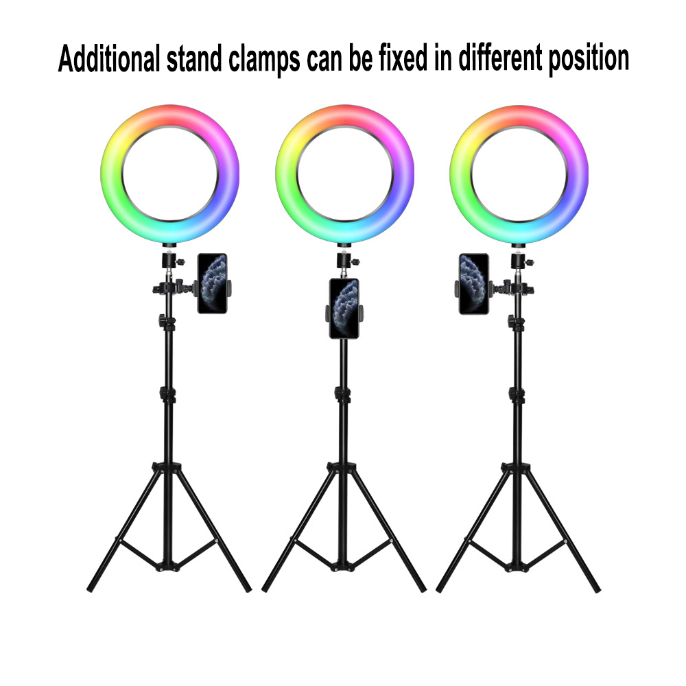 26cm RGB LED Selfie Ring Fill Light with Tripod_1