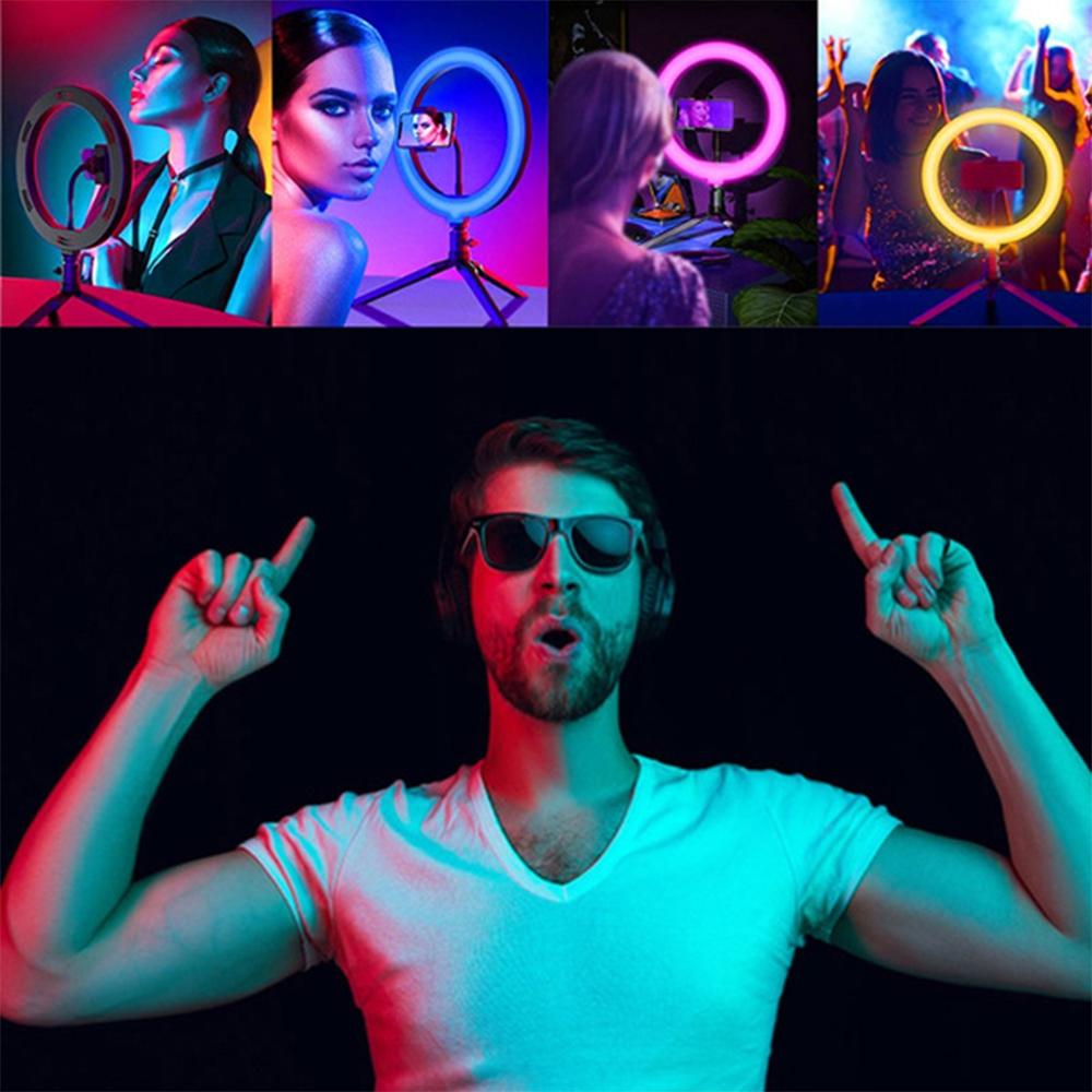 26cm RGB LED Selfie Ring Fill Light with Tripod_4