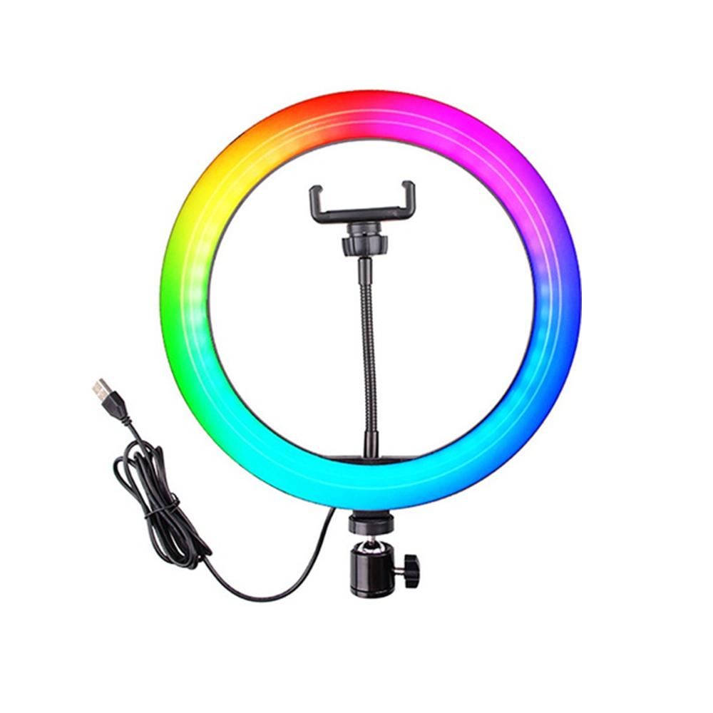 26cm RGB LED Selfie Ring Fill Light with Tripod_5