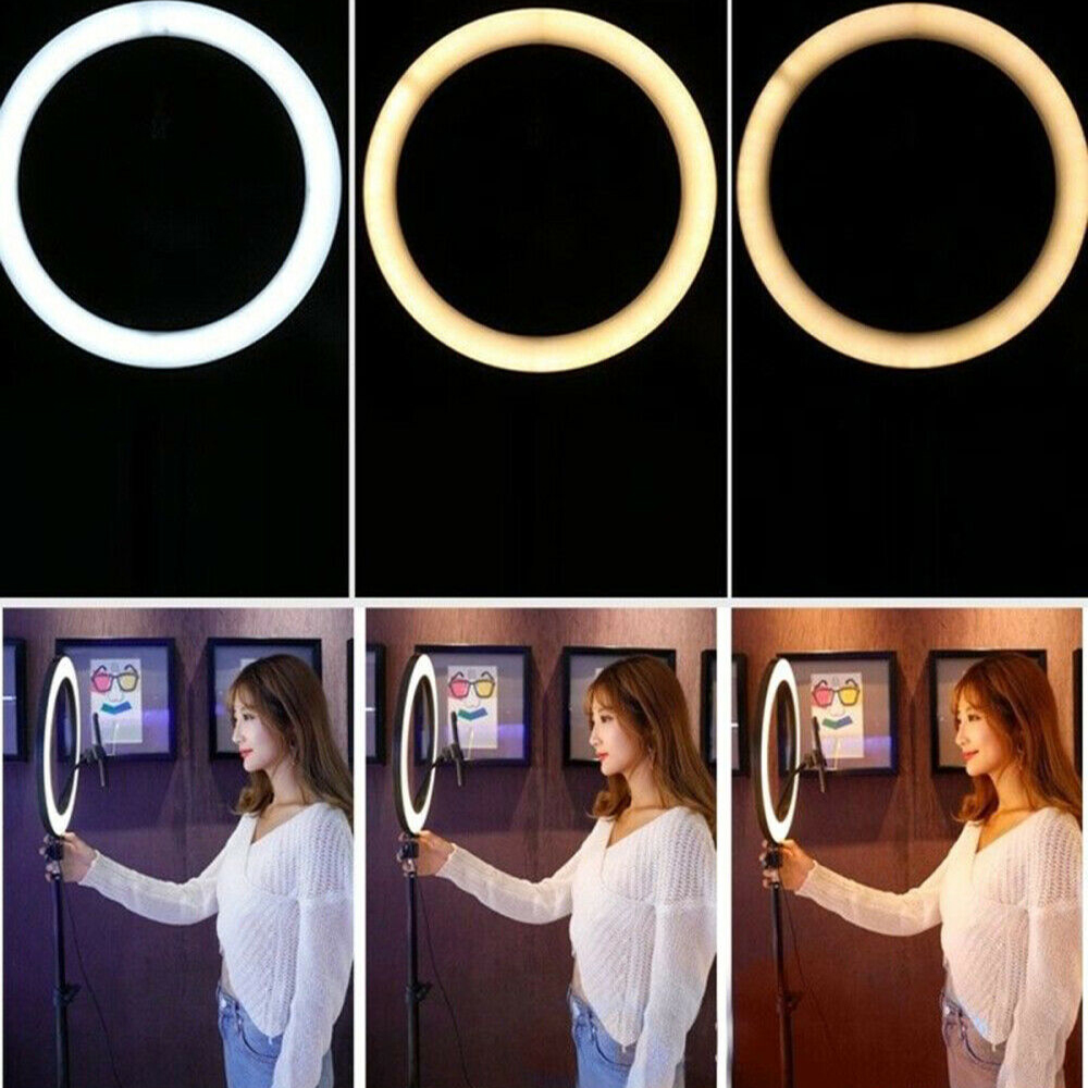 26cm Dimmable LED Selfie Ring Light with Tripod_7