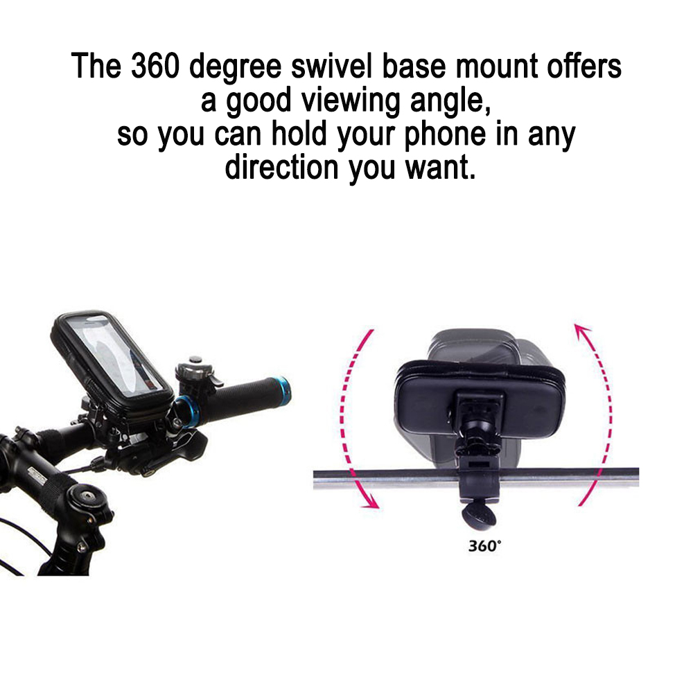 Waterproof Bike Handlebar Mobile Phone Holder for 6.3-inch Mobile Phones_7