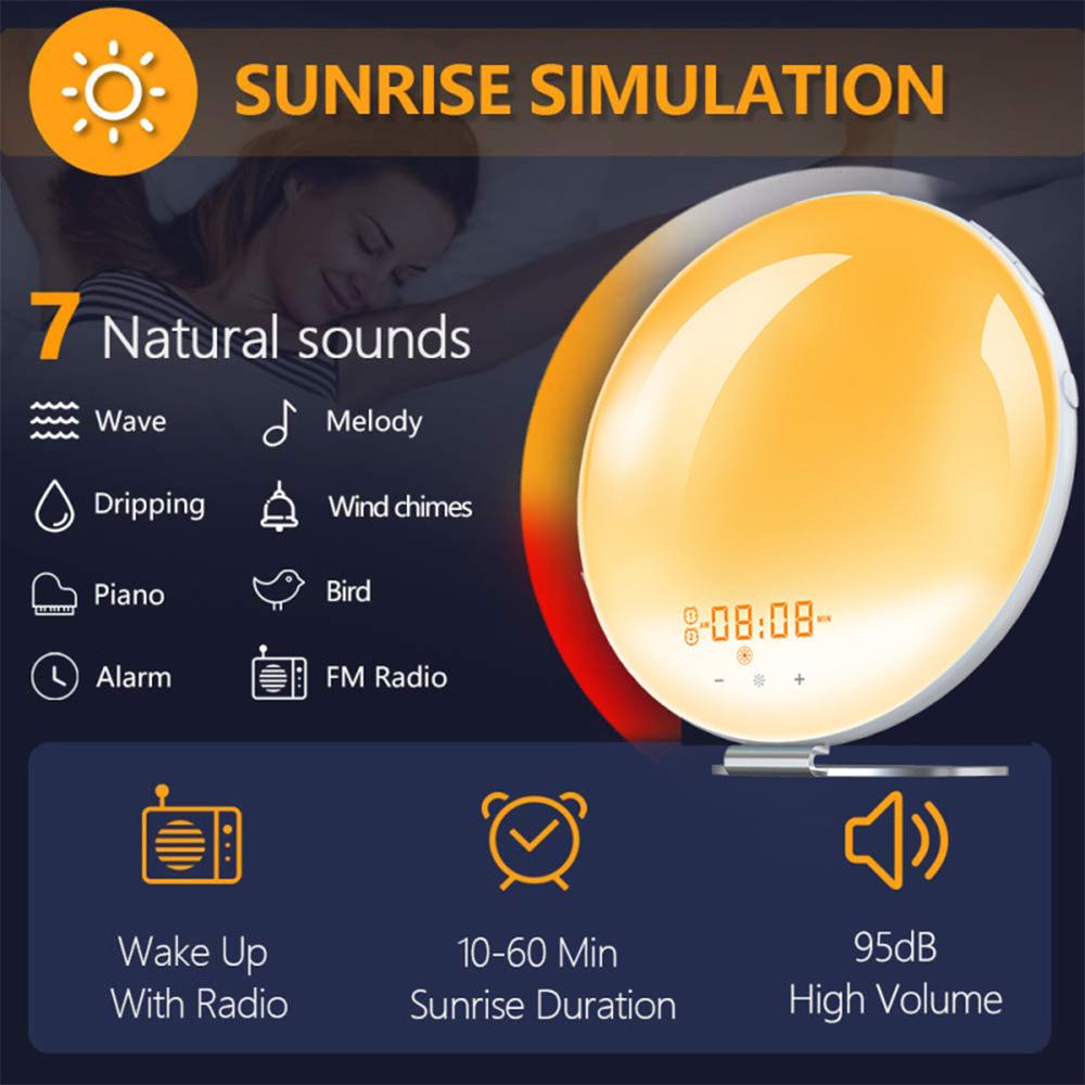 Creative Digital Alarm Clock Sunset and Sunlight Simulator Clock_8