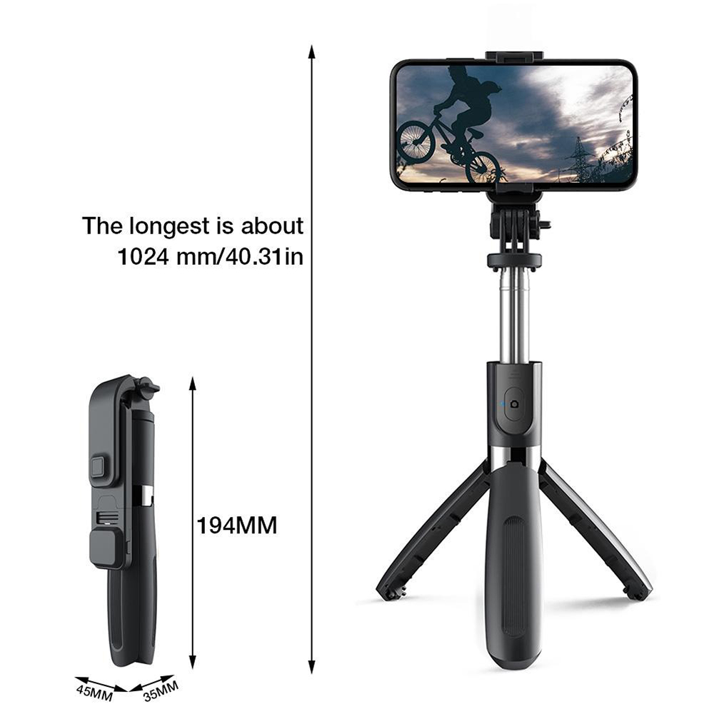 2-in-1 Foldable Monopod and Tripod with Remote Control Shutter Fill Light_9