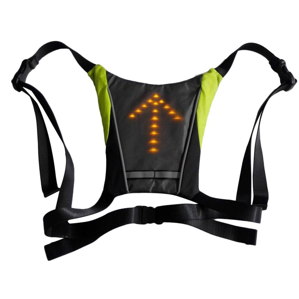 LED Signal Lighting Vest Wireless Safety Bike Signal Turning Light_6