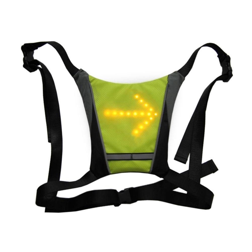 LED Signal Lighting Vest Wireless Safety Bike Signal Turning Light_7
