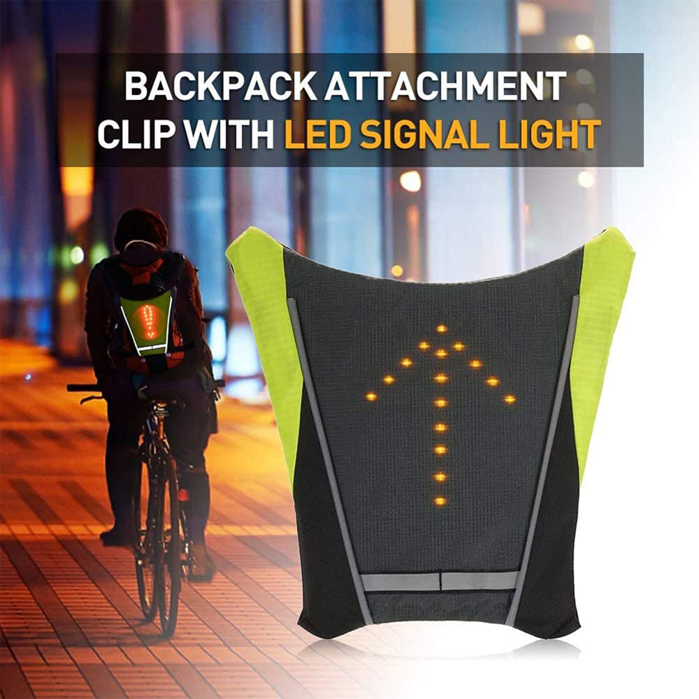 LED Signal Lighting Vest Wireless Safety Bike Signal Turning Light_9