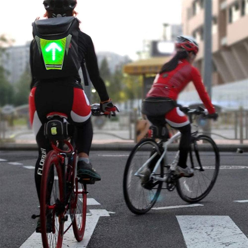 LED Signal Lighting Vest Wireless Safety Bike Signal Turning Light_5