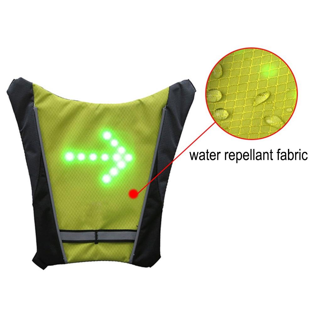 LED Signal Lighting Vest Wireless Safety Bike Signal Turning Light_1