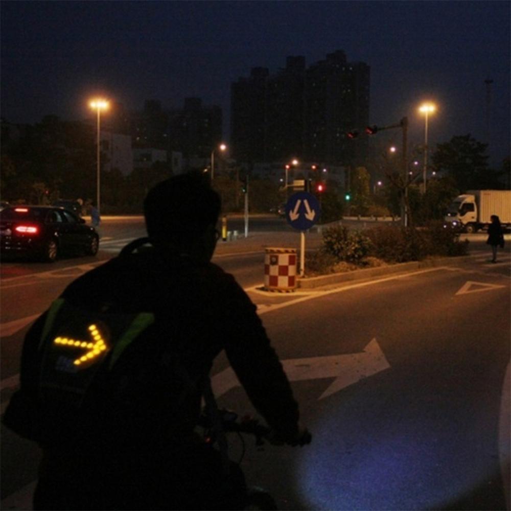 LED Signal Lighting Vest Wireless Safety Bike Signal Turning Light_4