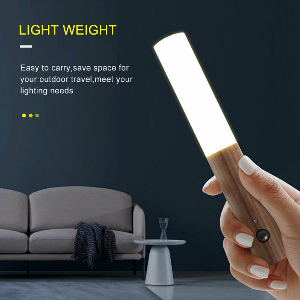Rechargeable Motion Sensor LED Night Light for Wall Stairs Cabinet Hallway_2