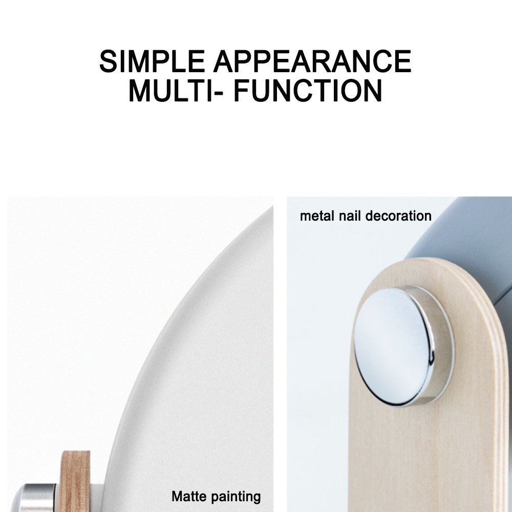 USB Rechargeable LED Retractable Folding Lamp Portable Wooden Night Light_4