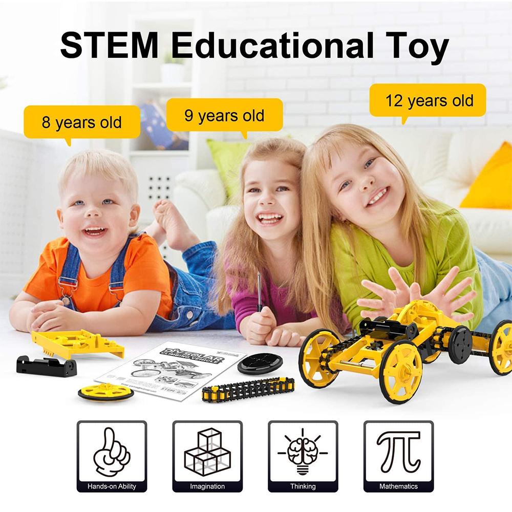 DIY Electric Engineering Blocks Solar Powered STEM Educational Toy Vehicle_4