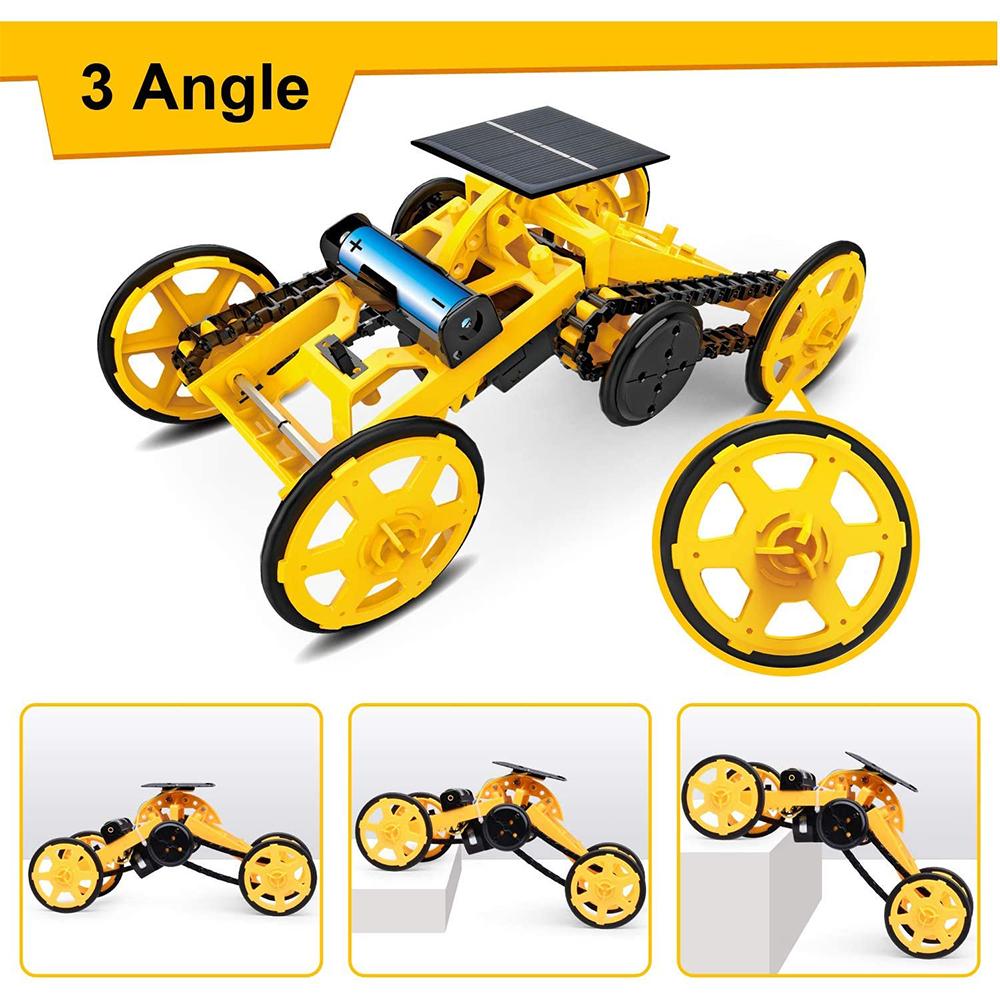 DIY Electric Engineering Blocks Solar Powered STEM Educational Toy Vehicle_6