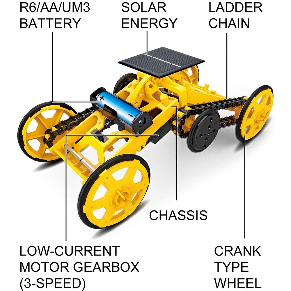 DIY Electric Engineering Blocks Solar Powered STEM Educational Toy Vehicle_7