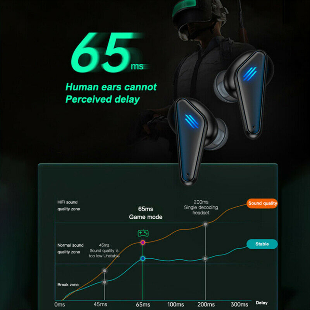 K55 TWS Wireless Gaming Bluetooth Headset with Mic and Charging Case_7
