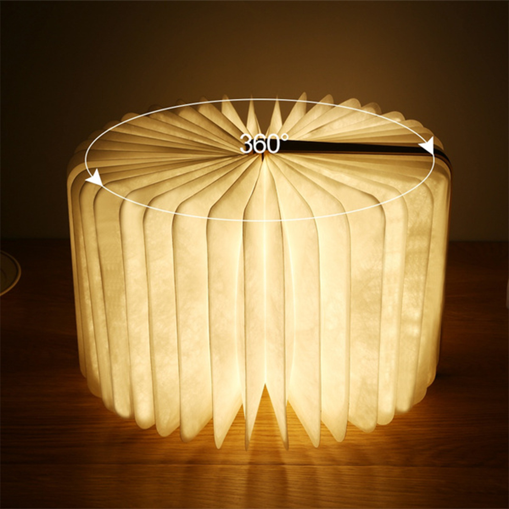 USB Rechargeable 3 Colors 3D Creative Foldable LED Book Night Light_1