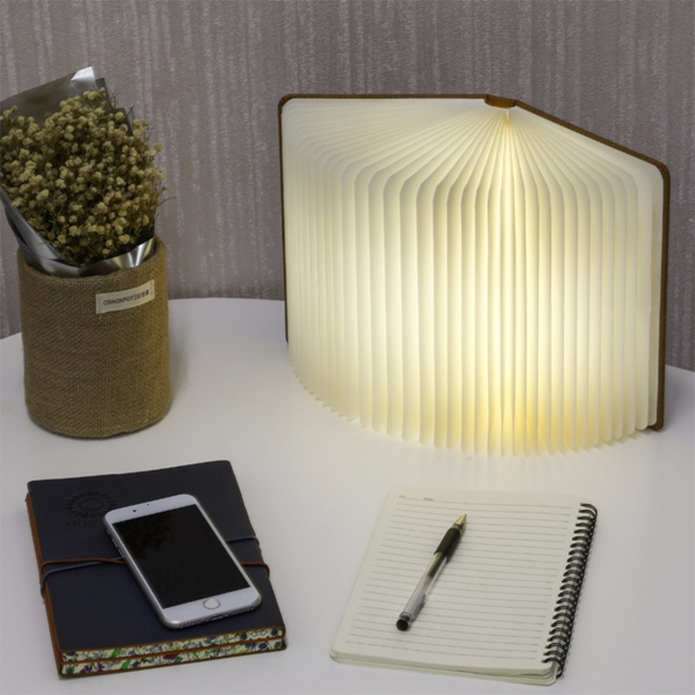 USB Rechargeable 3 Colors 3D Creative Foldable LED Book Night Light_2