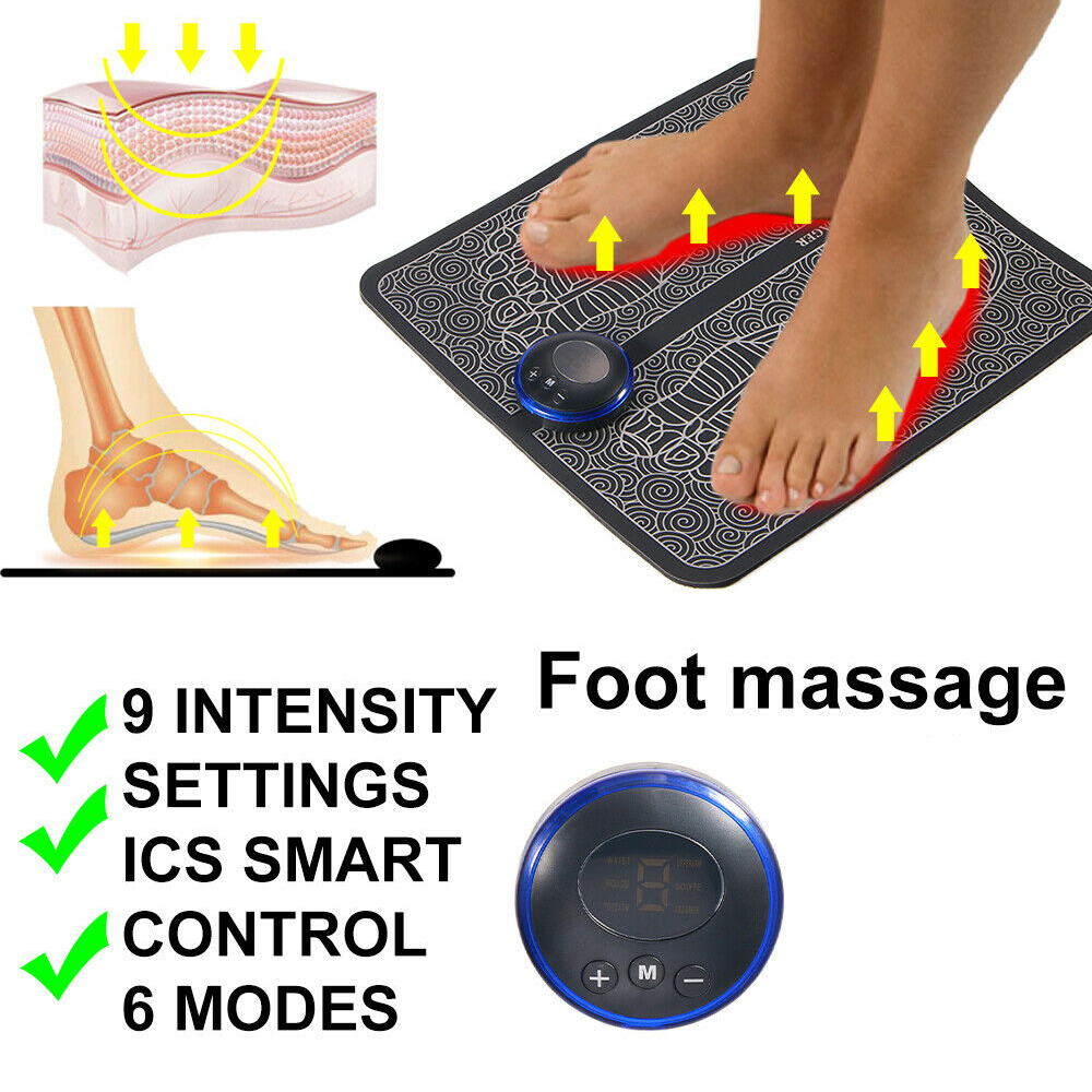 USB Rechargeable Foot Cushion and Massager with LCD Gear Display_9