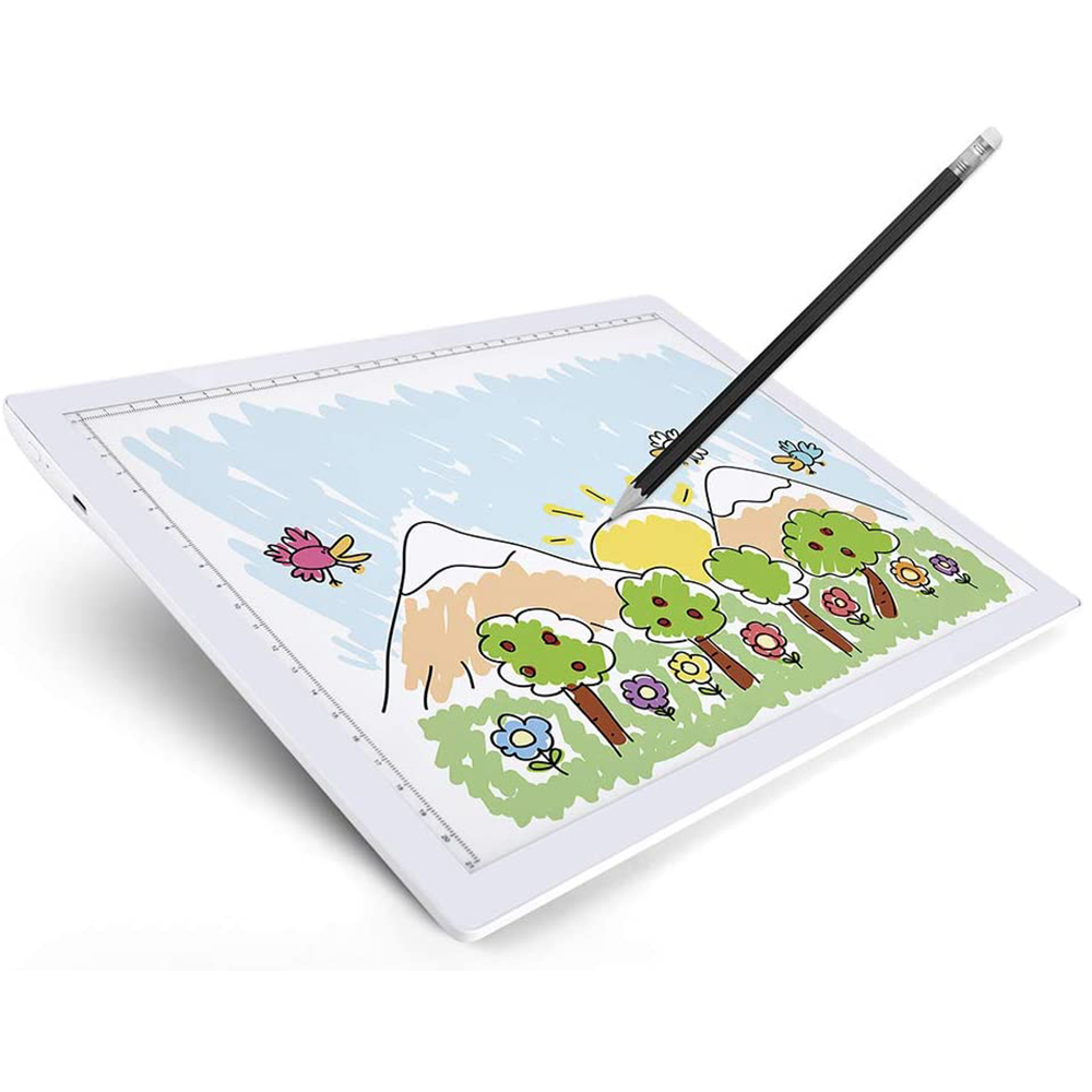 USB Rechargeable A4 Magnetic Pad Guide Light Tracing and Drawing Board_2