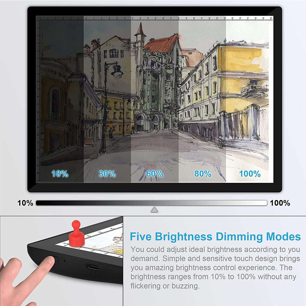 USB Rechargeable A4 Magnetic Pad Guide Light Tracing and Drawing Board_4