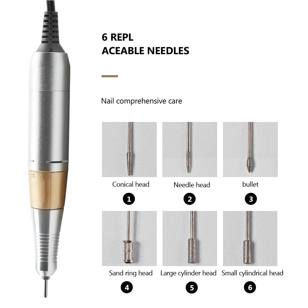 35000/20000 RPM Electric Nail Drill Machine Nail File Drill Set Kit_1
