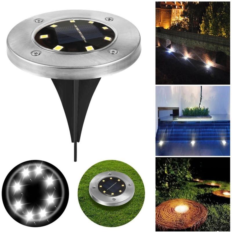 Pack of 4 Solar Powered LED Outdoor Solar Garden Ground Lights_4