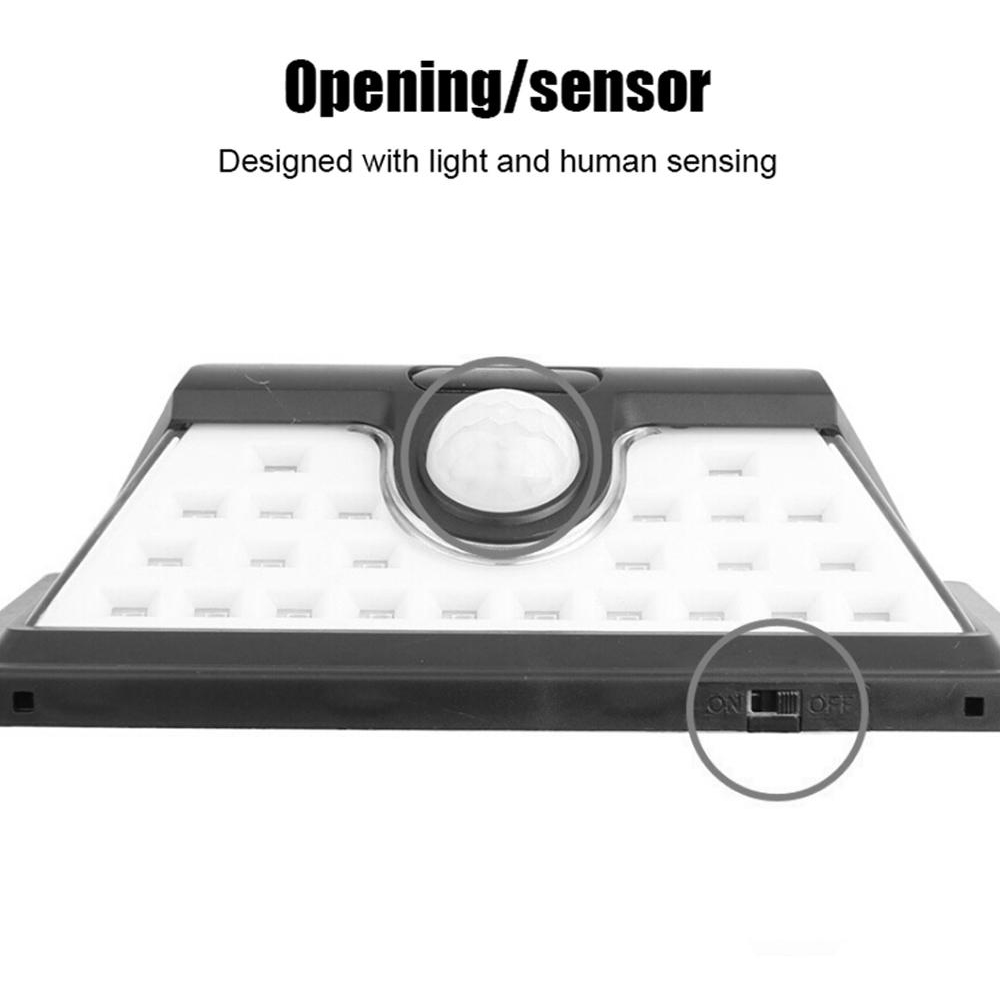Solar Powered 32LED Body Induction Motion Sensor Outdoor Wall Light_9