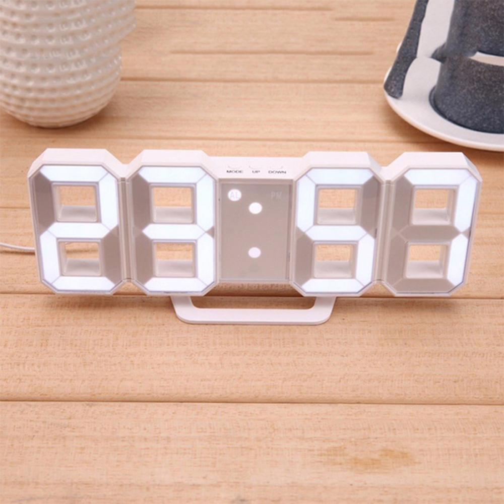 Digital Modern Plugged-in 3D LED Wall and Alarm Clock_3