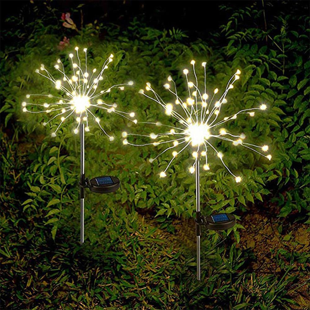 120 LED Solar Powered Outdoor Sparkling Fireworks LED Lights_2