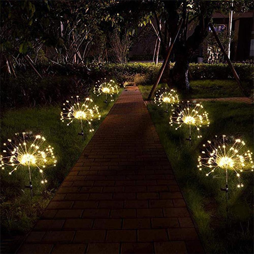 120 LED Solar Powered Outdoor Sparkling Fireworks LED Lights_3