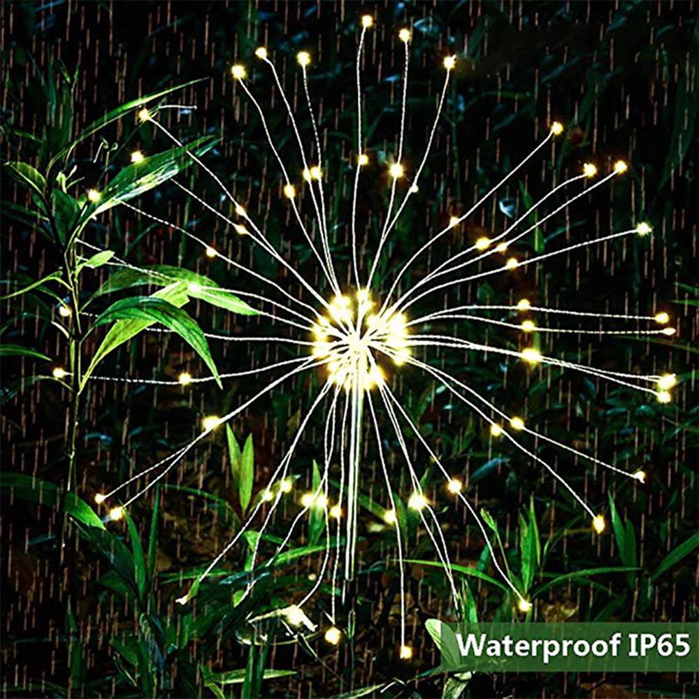 120 LED Solar Powered Outdoor Sparkling Fireworks LED Lights_7