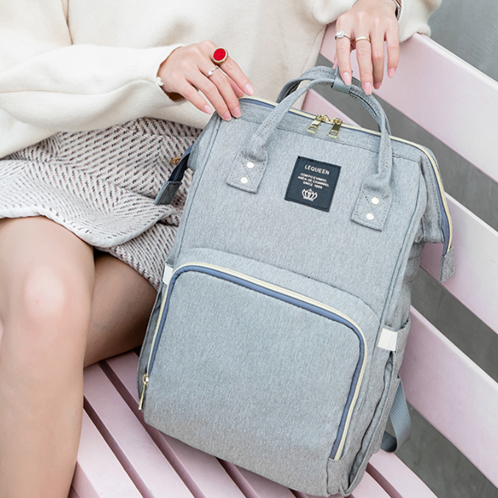 Large Capacity Maternity Travel Backpack with USB Charging Port_2