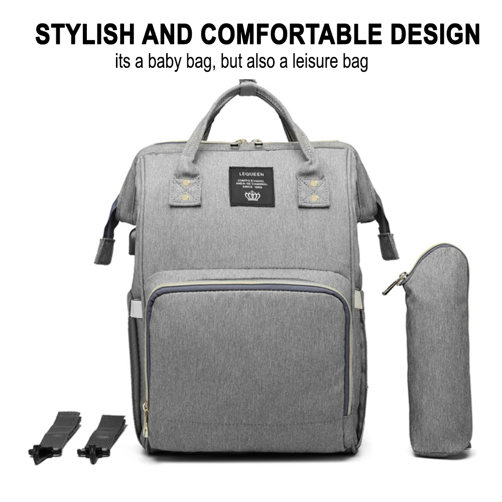 Large Capacity Maternity Travel Backpack with USB Charging Port_5