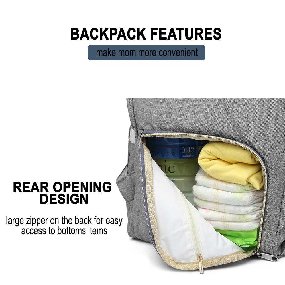 Large Capacity Maternity Travel Backpack with USB Charging Port_7