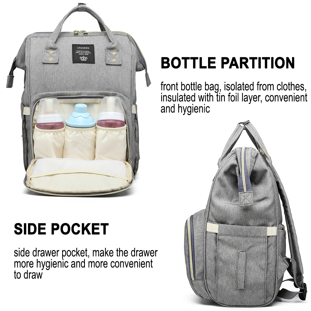 Large Capacity Maternity Travel Backpack with USB Charging Port_8