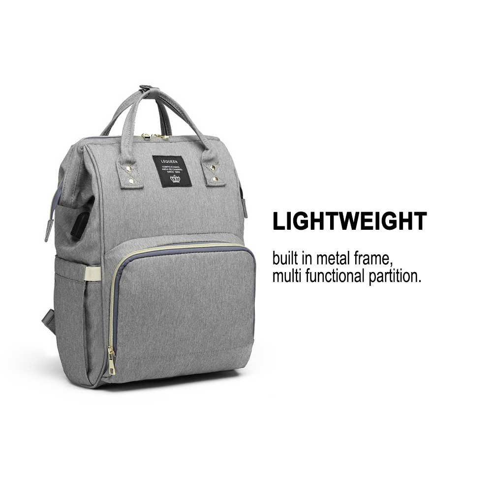 Large Capacity Maternity Travel Backpack with USB Charging Port_9