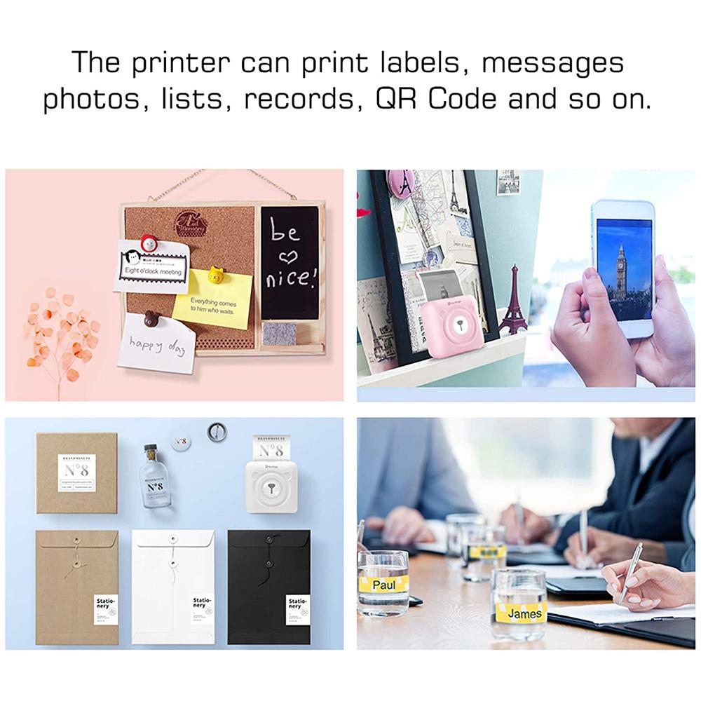 PeriPage Portable Mini Pocket Thermal Paper Photo Printer with Paper_3