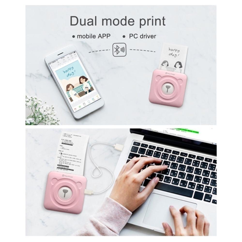 PeriPage Portable Mini Pocket Thermal Paper Photo Printer with Paper_9
