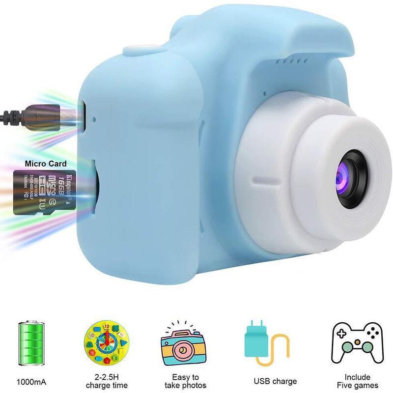 Mini Digital Kids Camera with 2 Inch screen in 3 Colors_5