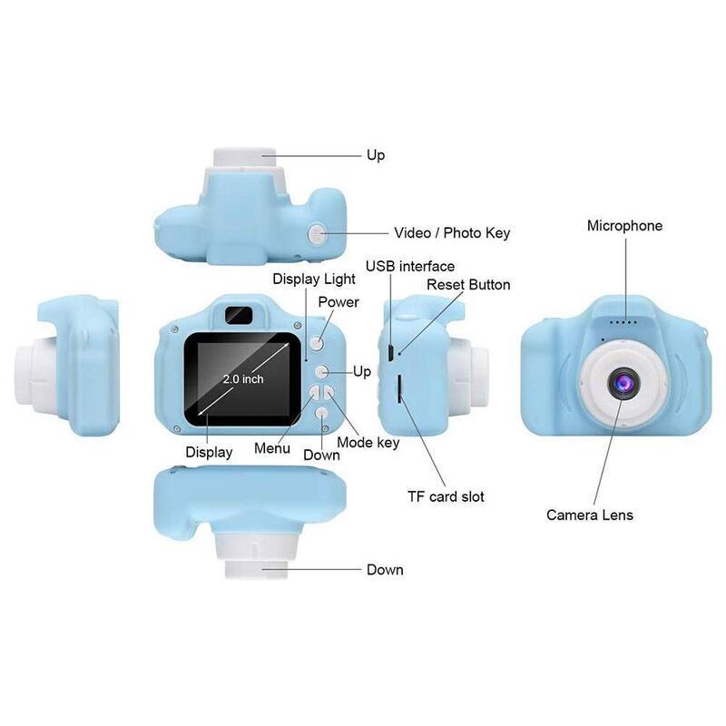 Mini Digital Kids Camera with 2 Inch screen in 3 Colors_4