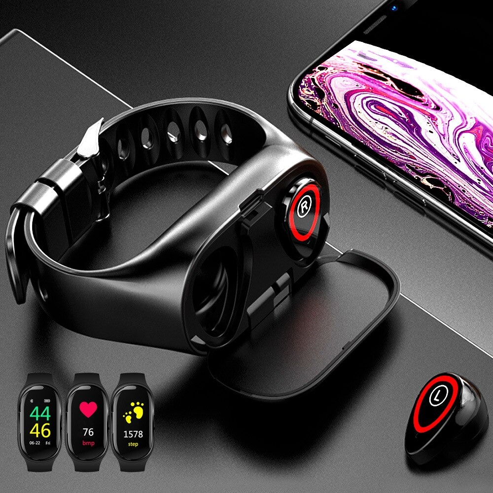2-in-1 M1 Bluetooth Headset and Fitness Tracker Smart Bracelet_2