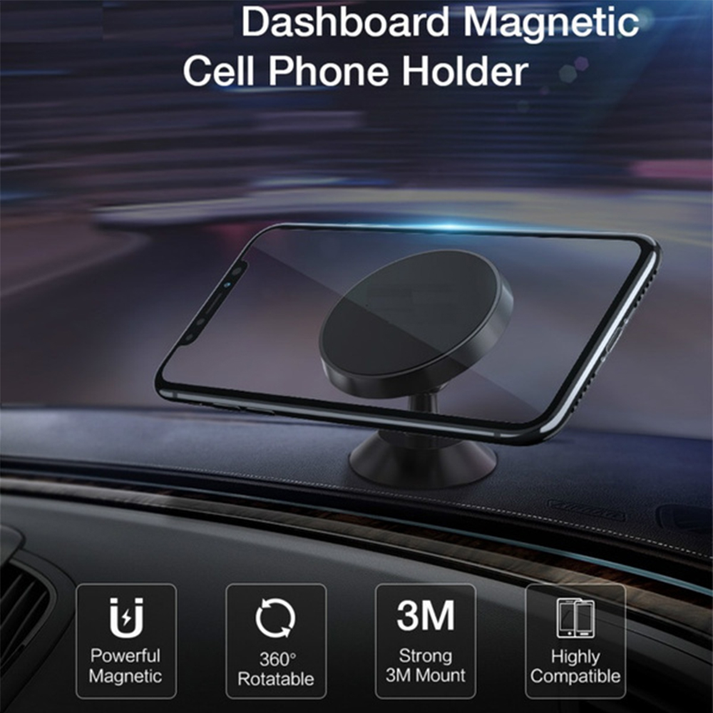 Universal Adhesive Dashboard Type Magnetic Mobile Phone Holder Cellphone Mount for 6.5 inch Phones_4