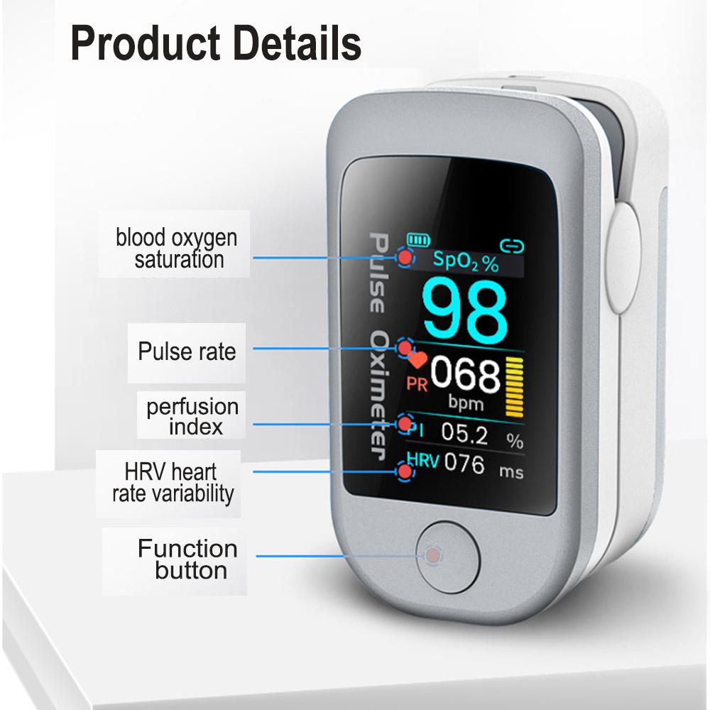 Bluetooth Enabled Blood Oximeter Finger Tip Pulse Tester with APP_4