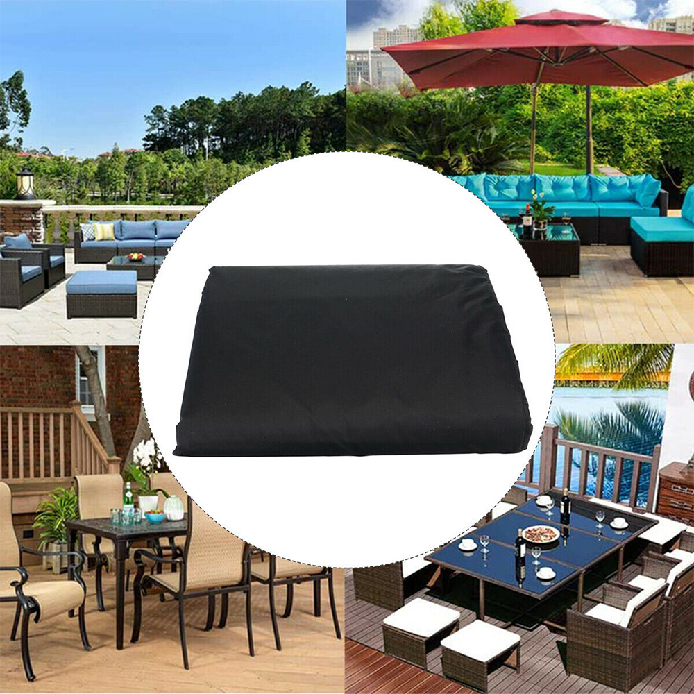 Waterproof Polyester Outdoor Furniture Protective Cover in 5 Sizes_2