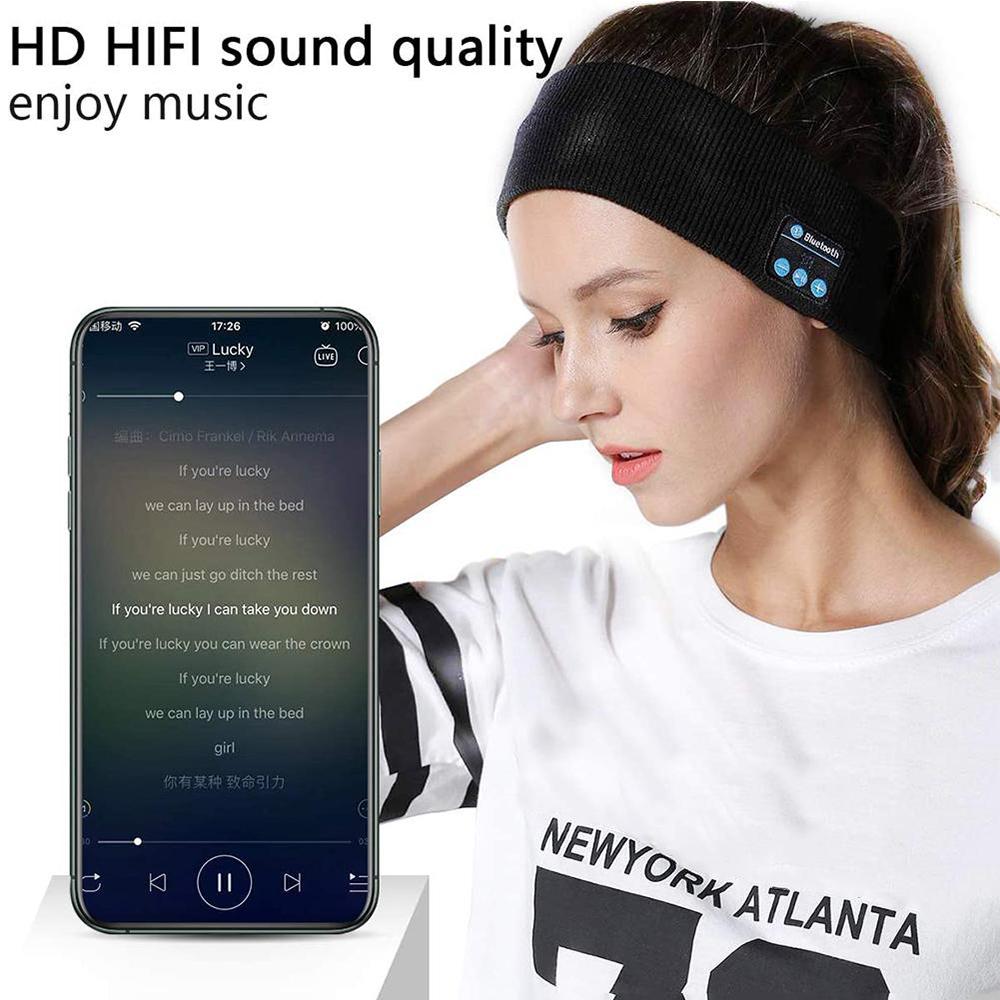 Musical Bluetooth Exercising Rechargeable Sleeping Headband_1