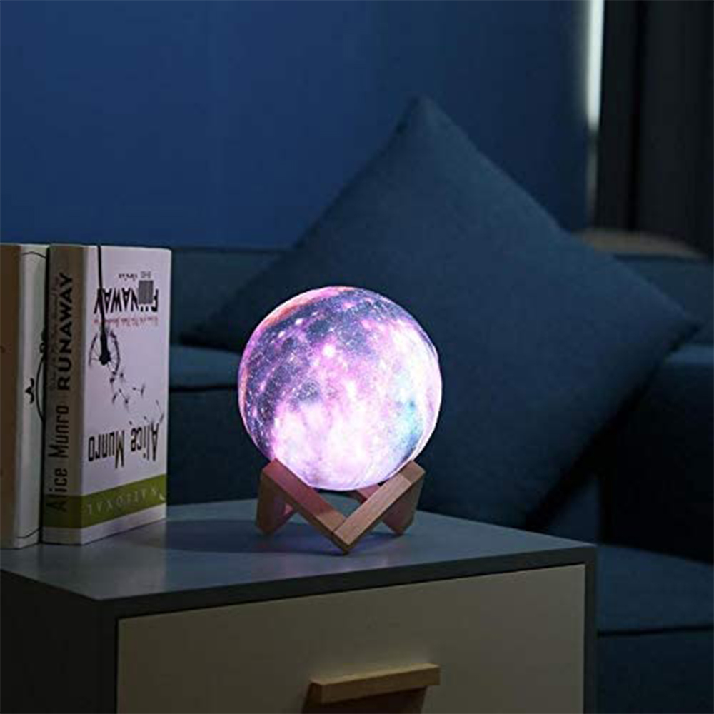 3D Printed Moon Galaxy Star Night Lamp and Room Light Décor_4