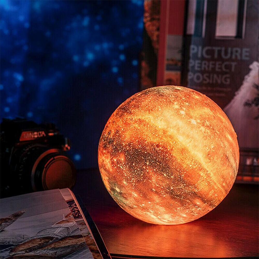 3D Printed Moon Galaxy Star Night Lamp and Room Light Décor_5