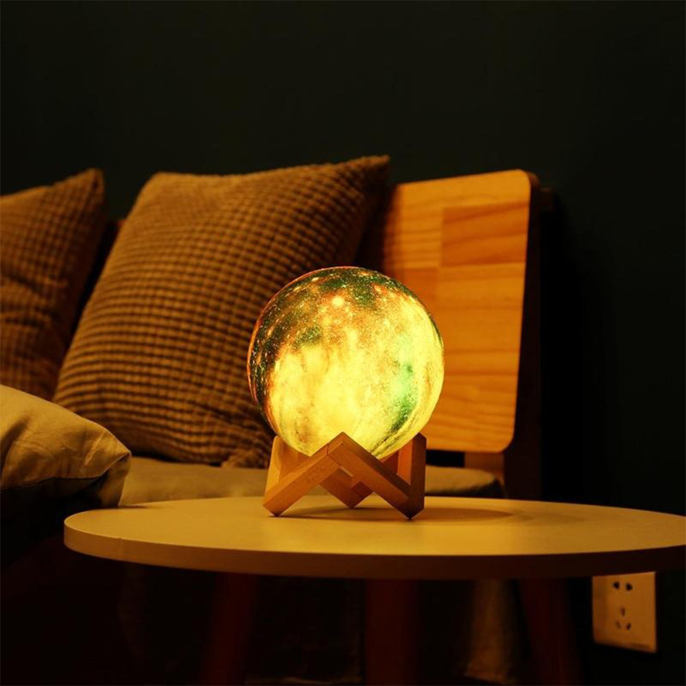 3D Printed Moon Galaxy Star Night Lamp and Room Light Décor_6